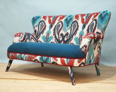 Colorful Gobelin Sofa by namedesignstudio on Etsy