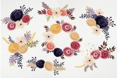Round Flowers by Webvilla on Creative Market