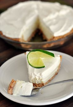 Mels Kitchen Cafe | Sour Cream Lime Pie: No question about it, this is the most refreshing dessert for the warm summer months. So creamy and light and tasty!
