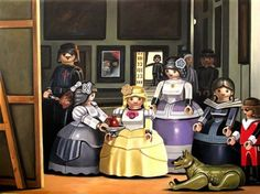 Classic Paintings, With All The Humans Replaced With Playmobil Toys