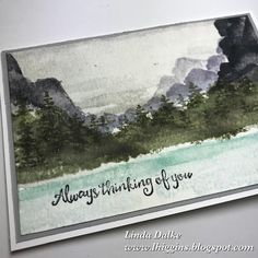 More beautiful landscapes with the Waterfront Stamp set