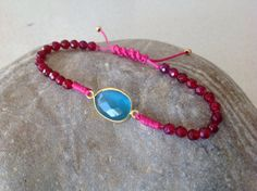 Items similar to Agate beaded macrame bracelet, semiprecious faceted bezel blue cats eye on Etsy Macrame Bracelets, Agate Beads, Trending Outfits, Unique Jewelry, Handmade Gifts, Vintage, Etsy, Fashion, Kid Craft Gifts