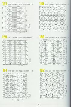 262 patrones crochet by karmittarte - issuu Crochet Stitches Chart, Tunisian Crochet Patterns, Crochet Motifs, Granny Square Crochet Pattern, Crochet Diagram, Crochet Doilies, Knitting Patterns, Knit Crochet, Chevron Crochet