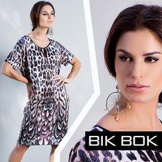 Animal print com efeito óptico muito lindo da Bik Bok Inverno 2015 #fashion #bikbok