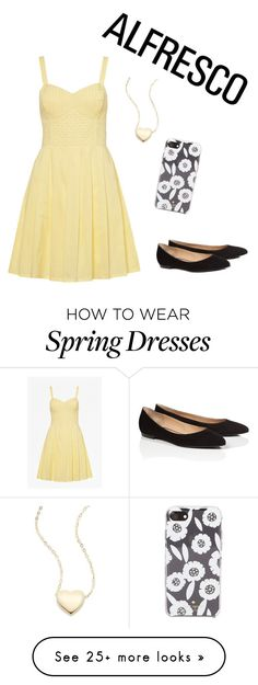 """Spring has sprung"" by green-luv5 on Polyvore featuring French Connection, ESCADA, Kate Spade and Saks Fifth Avenue"