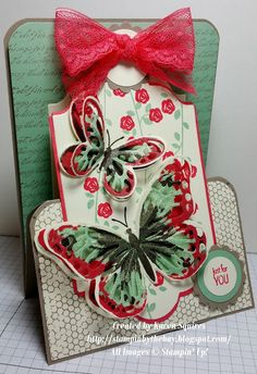 Stampin' By The Bay: Stand up Joy Fold Card - Watercolor Wings