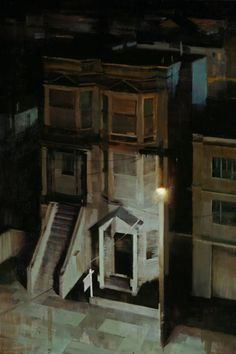 Kim Cogan - American Dream, 2012 oil on canvas Urban Painting, Painting & Drawing, Nocturne, City Art, Urban Landscape, Contemporary Paintings, Urban Art, Art And Architecture, Landscape Paintings