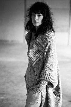 Humanoid AW2011 (Bold coloring model wearing Natural - and because of it's volume Dramatic- sweater.