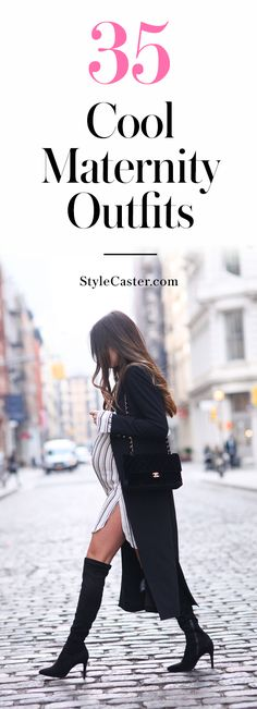 Pregnant Street Style: 35 cool maternity outfit ideas that prove you can dress…