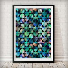 Abstract 1 Art Print This kaleidoscope print in fun colors is perfect the perfect addition to any space! Please note our framed prints DO NOT Include a white border / mount / mat around the image.  We use Premium Quality Inkjet Heavyweight Satin Paper which gives a sharp, crisp, clear look to all of our artworks. Its heavier weight gives it that 'professional' feel. Please remember that computer monitors vary. Colors and contrast may slightly differ.There also might be a slight difference…