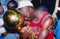 Michael Jordan crying after winning his first NBA Championship. Game 5 NBA Finals – Chicago Bulls v Los Angeles Lakers, 1991