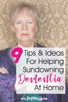"""Some dementia and Alzheimers patients experience """"sundowning"""" in the evening. Here are 9 natural tips and ideas to help caregivers deal with your loved one's sundowners syndrome when they live in your home. While it is never fun to see your loved one conf Dementia Awareness, Dementia Care, Alzheimer's And Dementia, Dementia Quotes, Dementia Symptoms, Dealing With Dementia, Alzheimers Activities, Activities For Dementia Patients, Physical Activities"""