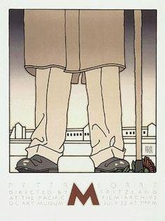 M Movie Poster by David Lance Goines