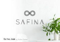 Geometric Minimalist Logo Design for artisan boutique branding, e-commerce website logo, wordpress blog logo, boutique logo, photography branding, wedding logo, website branding design.