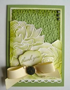 Stampin Up: Manhattan Flower and other Embossing Folders