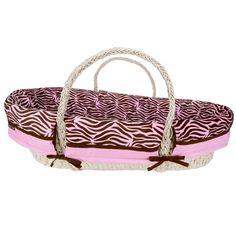 Moses Baby Basket Jungle Pink