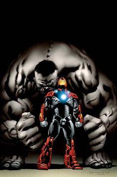 Iron Man & Grey Hulk