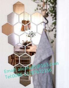 50 Hexagon mirror tiles excellent Hexagon Mirror Tiles Decorative Wall For Home 350 350 Imaginative Icon Decor with medium image