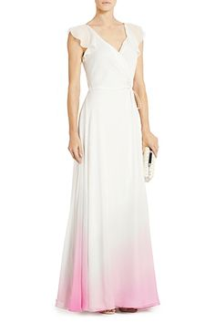 DVF | The flirty Delancey dress in gradient falls pink is perfect for any party.  I wonder if I could get this in blue?!