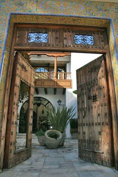Hermosa puerta rústica