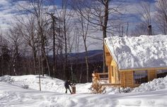 Cross country skiing in Mont Tremblant is a fabulous way to experience winter in Quebec #Tremblant