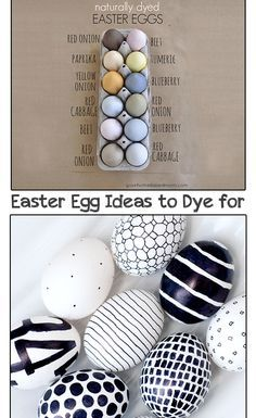 Creative Easter egg Dye Ideas- Cute ways to color Easter Eggs.  Lots of creative Egg ideas, including natural ways to dye Easter Eggs and more...