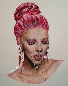 "OPIUM&KASH magazine on Twitter: ""By MadethArt #art #artist #artwork #drawing #beautiful #woman #dope #opiumetkashmagazine #bedifferent https://t.co/ODiEvNaXkj""♥🌸♥"