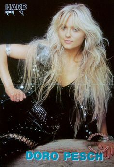 Dorothee Pesch (born 3 June 1964, Düsseldorf, Germany), popularly known as Doro Pesch or Doro, is a German hard rock vocalist and songwriter, formerly front-woman of the heavy metal band Warlock. The name Doro has also been associated with the touring band accompanying the singer, whose members have continuously changed in more than twenty years of uninterrupted activity, the most stable presences guaranteed by bassist Nick Douglas and drummer Johnny Dee.