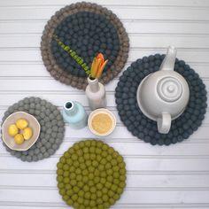 wool teapot coasters by henry & future   notonthehighstreet.com