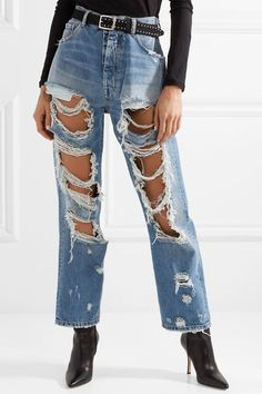 Unravel Project | Distressed oversized jeans  | NET-A-PORTER.COM