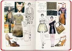 How to organize your fashion sketchbook