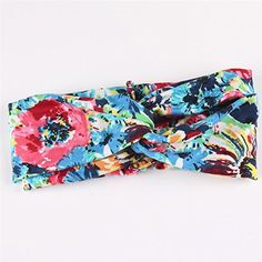 Fashion Women Flower Printed Spring Twist Hair Band Turban Headband -- See this great product.
