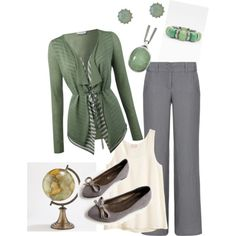 """Professional, color combo, wardrobe wish list --- """"Teacher outfit by… Source by Nettdoll outfits Teacher Wardrobe, Work Wardrobe, Teacher Clothes, Work Clothes, Pretty Outfits, Cute Outfits, Work Outfits, Professional Wardrobe, Young Professional"""