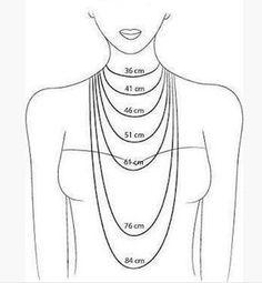 Lunghezza collane Molto spesso, soprattutto all'inizio, quando si progetta di fare da sole una collana si rimane incerti sulla misura da seguire. Ma quanto