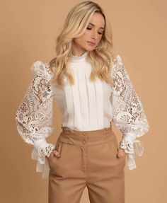 blouse combine with pants Look Fashion, Hijab Fashion, Autumn Fashion, Fashion Dresses, Womens Fashion, Fashion Design, Queer Fashion, Urban Fashion, Fashion Styles