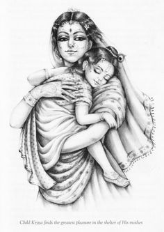 Young krishna finds the most pleasing calmness from his mother's arms ! Arte Krishna, Krishna Statue, Krishna Leela, Little Krishna, Baby Krishna, Krishna Love, Lord Krishna, Shiva, Radha Krishna Images