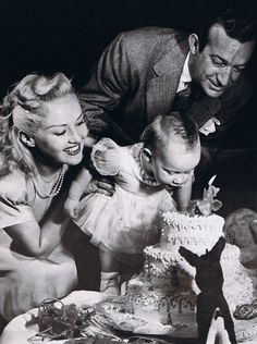 Betty Grable with husband Harry James and daughter