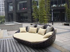 TG-240P wicker daybed from trygo outdoor furniture