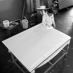 Making smooth gesso panels