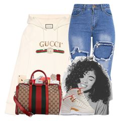 """"""""""" by kennisha84 ❤ liked on Polyvore featuring Gucci, Victoria's Secret, WALL, MAC Cosmetics and PhunkeeTree"""