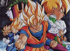 "piccolospirit: "" Piccolo and Z team DRAGON BALL Z Doujinshi artwork poster by Furujun / JUNYA FURUSAWA Source : personal collection / scan from DRAGON BALL DOUJINSHI [ HERO] / CLUB FURUJUN """