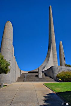 The Afrikaans language monument, Paarl, Western Cape, South Africa, opened on 10 October 1975 to commemorate the semi-centenary of Afrikaans being declared an official language of South Africa separate from Dutch. Beautiful Places To Visit, Places To See, Languages Of South Africa, Places Around The World, Around The Worlds, Afrikaans Language, African History, Africa Travel, Beautiful Buildings