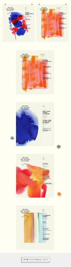 Parisian studio turns out painterly, colour-themed identity for French theatre
