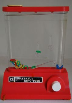 We used to get these water games for Christmas when we were kids :^)  We played with them all the time... how low tech can you get? I guess we were easy to entertain!