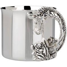 Reed & Barton Silverplated Safari Giraffe Cup, Silver, Size 6-8 oz. (Metal, Animal)