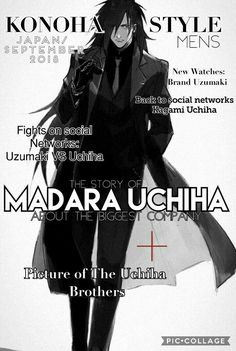 #MadaraUchiha #Fashion  Este edit lo hice yo. Créditos al artista (dibujo)