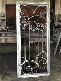 Steel Gate Design, Front Gate Design, House Gate Design, Door Gate Design, Home Window Grill Design, Grill Door Design, Metal Gates, Wrought Iron Doors, Steel Security Doors