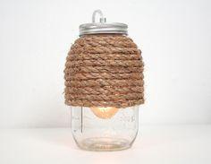 Mason Jar Lamp III