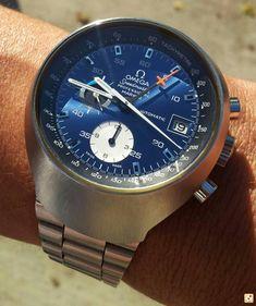 Blue Omega Speedmaster