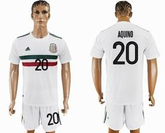 home soccer country jersey 2017 2018 mexico team 20 aquino white soccer jersey away